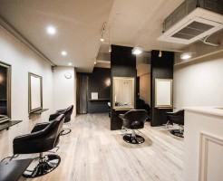 美容院カットスペース内装デザイン