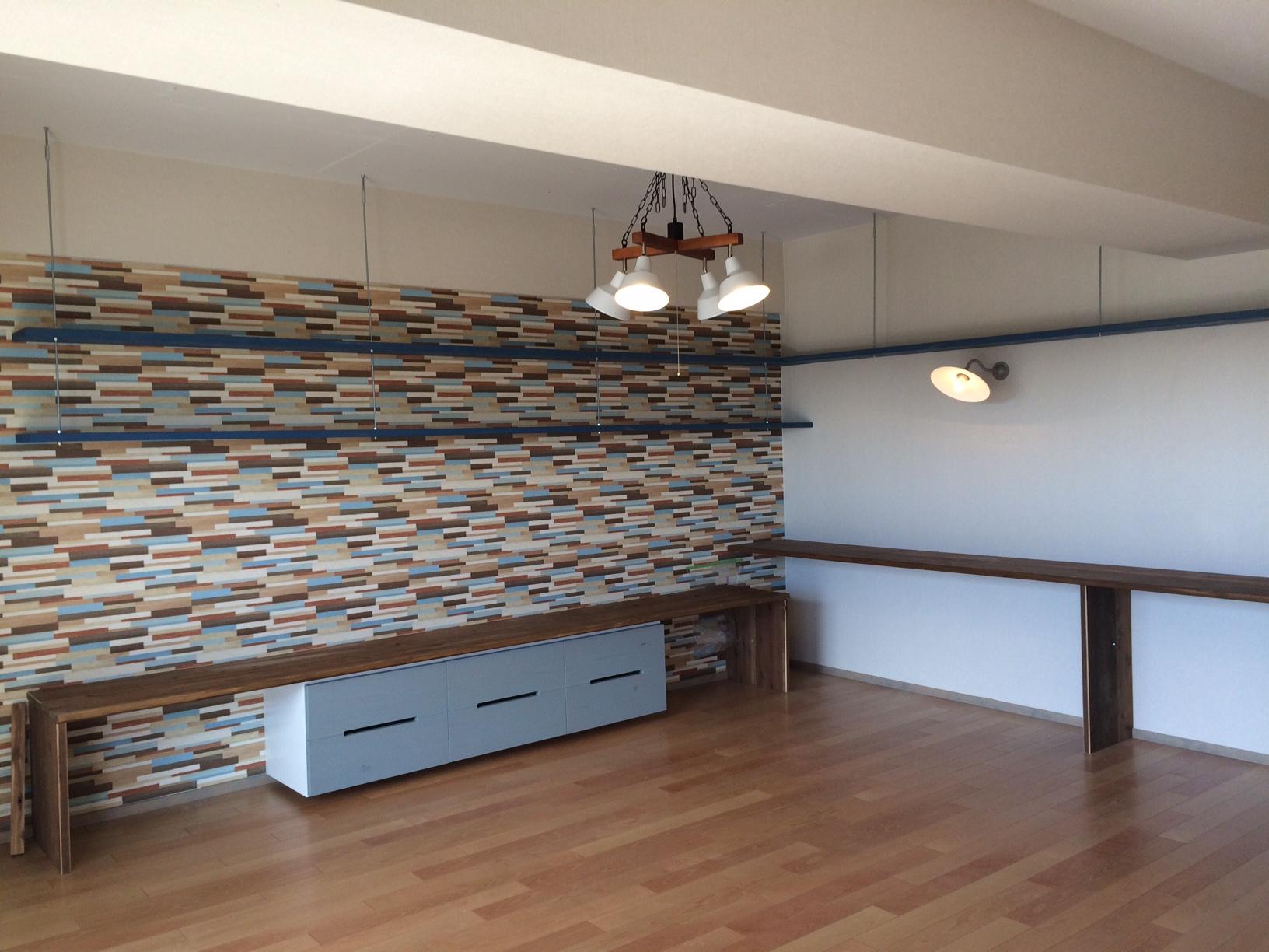 新建材と無垢材のマンションリノベーション/内装デザイン事例_NO.j04