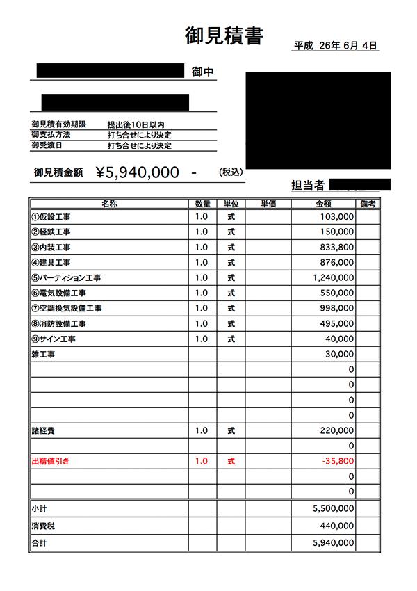 A社:14万円/坪