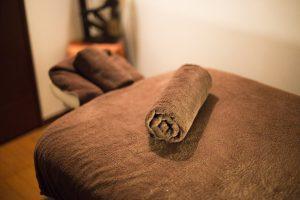 タオルとベッド