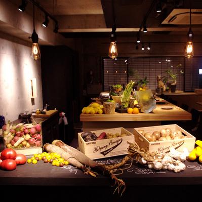 有機野菜レストラン(バル)のインテリア内装