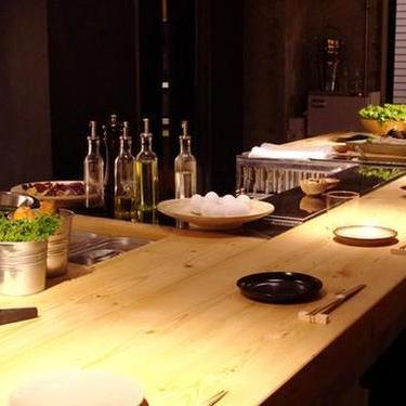 有機野菜レストラン(バル)のカウンター