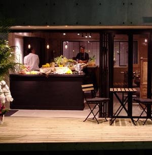 有機野菜レストラン(バル)のファサードデザイン