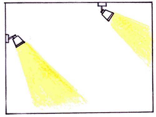 スポットライト照明計画