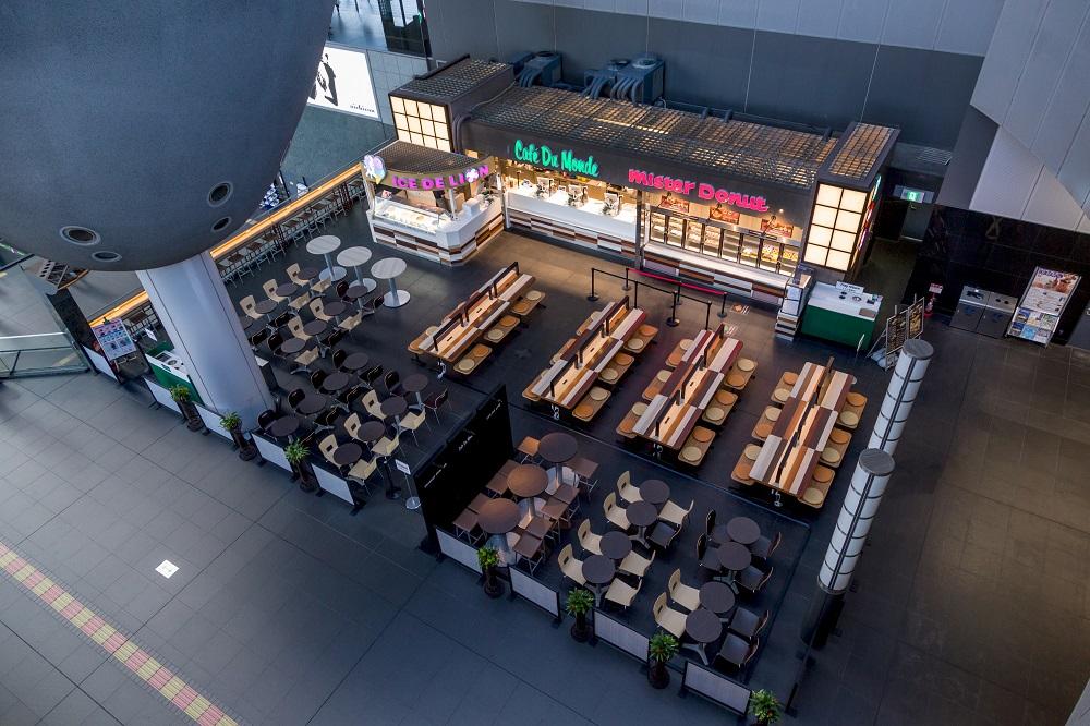 駅ナカ飲食店の施工事例鳥観写真
