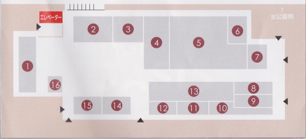 刈谷ハイウェイオアシスのセントラルプラザのマップ