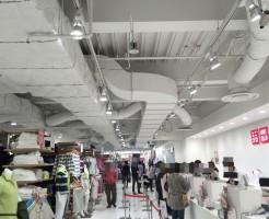 アパレル店舗、ブティックのスケルトン内装デザイン